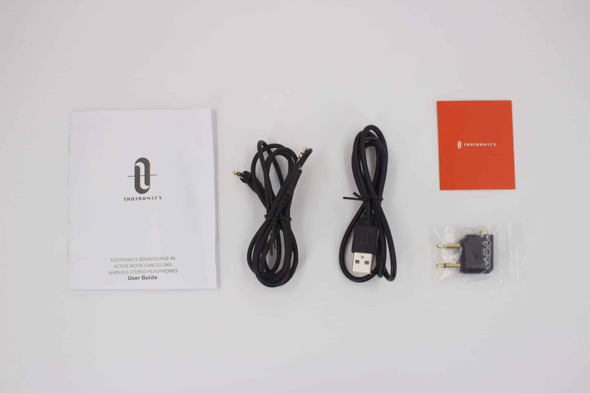 TaoTronics TT-BH046(SoundSurge 46)藍牙降噪耳機推薦 配件