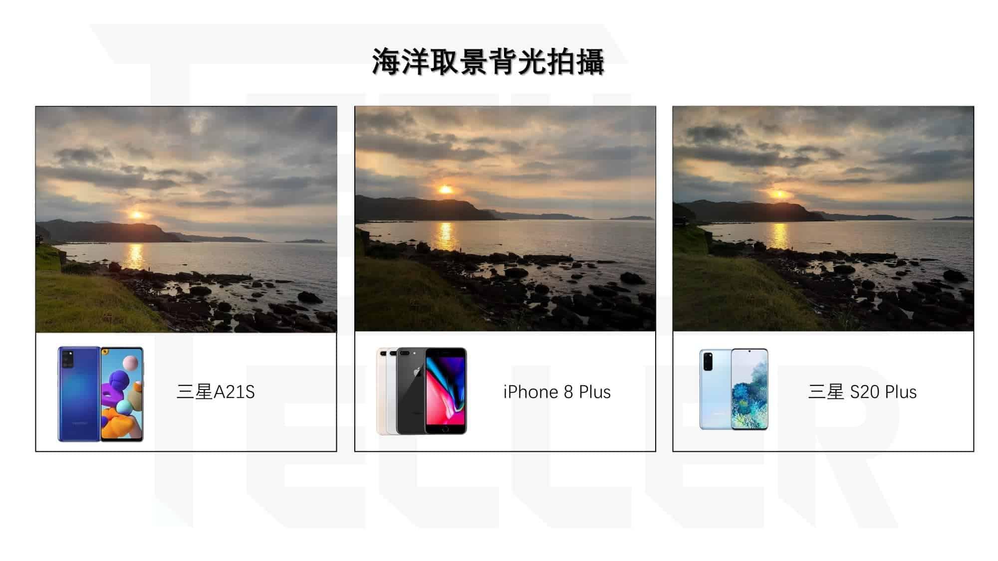 Samsung Galaxy A21S-拍照實測1-海洋取景背光