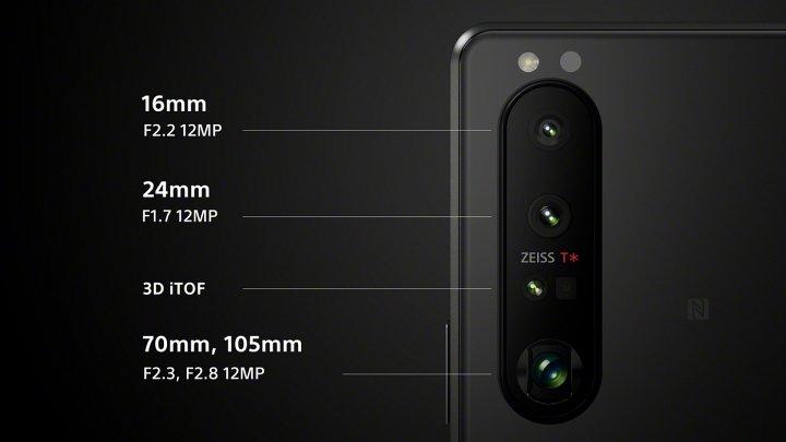 Xperia 1 III 搭載 1200 萬畫素 3 鏡頭及3D iToF 傳感器